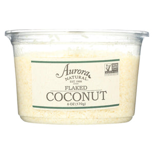 Aurora Natural Products - Flaked Coconut - Case Of 12 - 6 Oz.