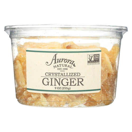 Aurora Natural Products - Crystallized Ginger - Case Of 12 - 9 Oz.