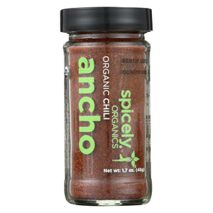 Spicely Organics - Organic Org Chili Ancho Ground - Case Of 3 - 1.7 Oz.