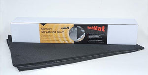 "Hushmat Silencer Megabond Thermal Insulation Sound Absorbing Foam (2) 23"" X 36"" 1-2"" Thick Sheets"