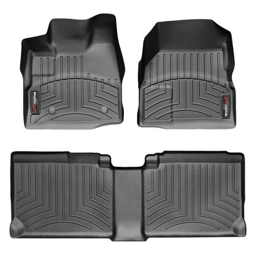Weathertech First & Second Row Floor Liners For 11-17 Chevy Equinox-gmc Terrain (black)
