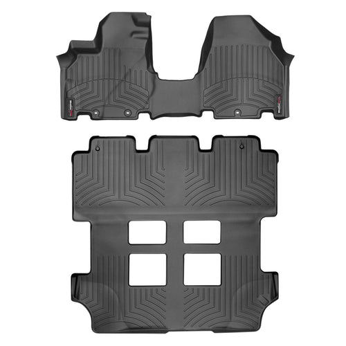 Weathertech 1st 2nd & 3rd Row Over The Hump Floor Liners For 11-17 Honda Odyssey (black)