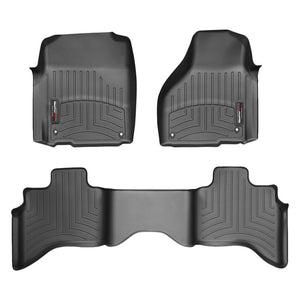 Weathertech First & Second Row Floor Liners For 2012-2019 Dodge Ram 1500 (black)