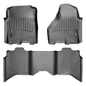 Weathertech First & Second Row Floor Liners For 12-19 Dodge Ram 1500-2500-3500 (black)