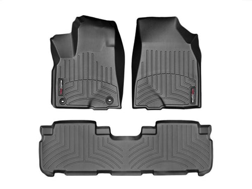 Weathertech First Row Floor Liners For 2014-2019 Toyota Highlander (black)