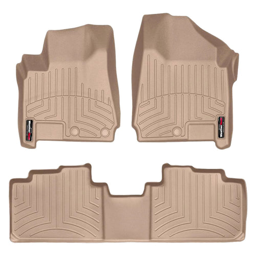 Weathertech First & Second Row Floor Liners For 2012-2016 Cadillac Srx (tan)