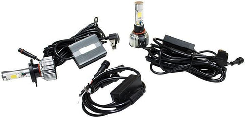 Street Vision 9006 Cats Eye Led Headlight Conversion Kits - Dual Function Kit With Driving And Accen