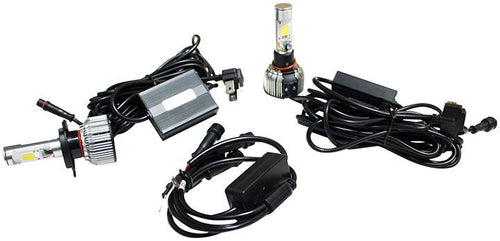 Street Vision 9007 Cats Eye Led Headlight Conversion Kits - Dual Function Kit With Driving And Accen