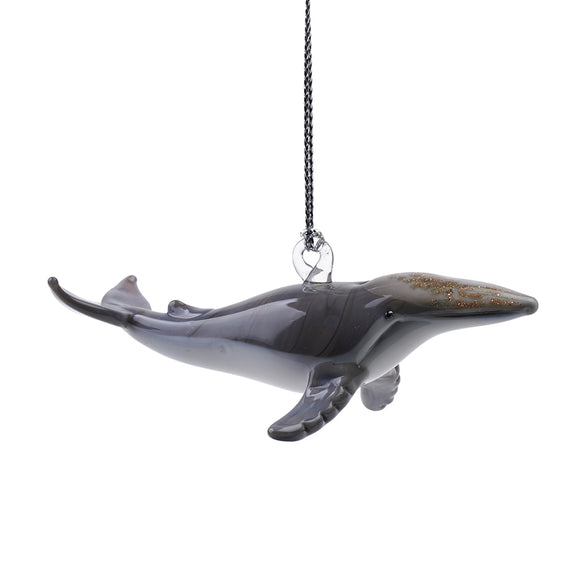 Art Glass Ornament: Humpback Whale
