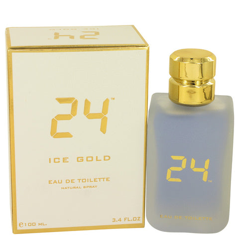 Eau De Toilette Spray 3.4 oz, 24 Ice Gold by ScentStory