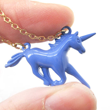 Unicorn Horse Animal Pendant Necklace in Purple | DOTOLY | DOTOLY
