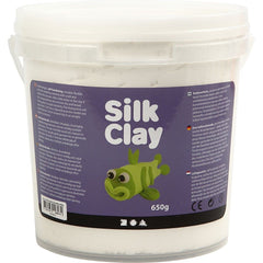 White Colour Pliable Lightweight Modelling Compound With Plastic Bucket 650 g - Hobby & Crafts