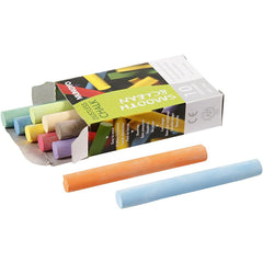 10 Chalkboard Chalk Assorted Colours Dustless Sticks Quality Blackboard Tool Pieces Boxed 8 cm