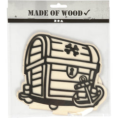 EVA Foam Treasure Box Motif Wooden Figure With Stand Paint Clay Decoration Craft - Hobby & Crafts
