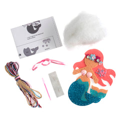 Trimits Mermaid Pre Punched Shaped Acrylic Felt Kit For Beginners 10cm x 8cm