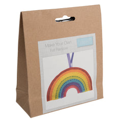 Trimits Rainbow Pre Punched Shaped Acrylic Felt Kit For Beginners 11cm x 6cm