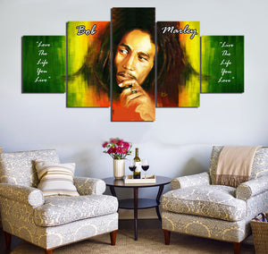 5 Piece Bob Marley Painting Wall Art | Original Rasta Oil Painting