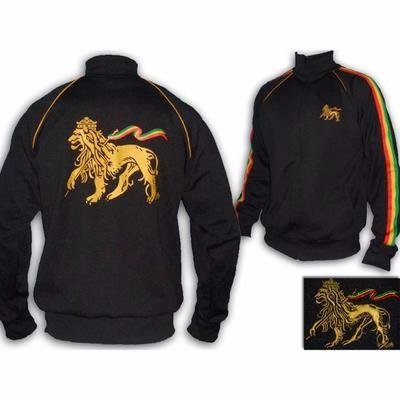 Rastafari Jah Star Conquering Lion of Judah Rasta Tracksuit -Black