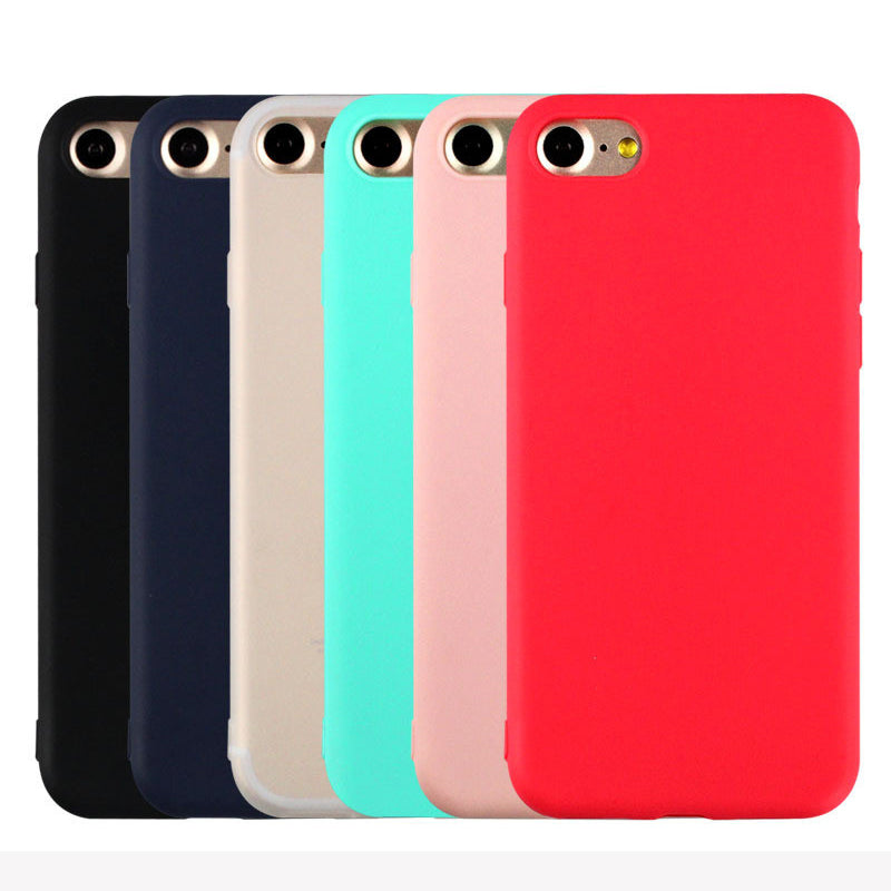 Cute Candy Pastel Colors Soft TPU Silicon iPhone cases for Apple iPhone 5 5S SE 6 6S 7
