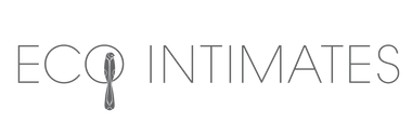 logo of eco intimates in soft grey