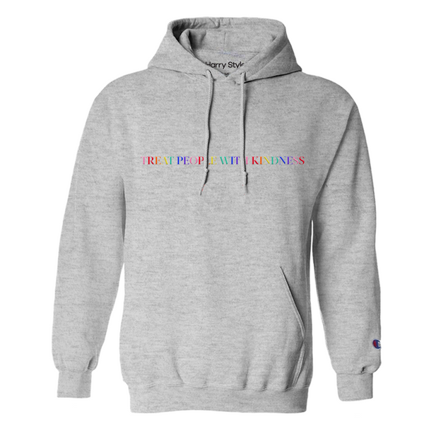 Treat People With Kindness Hoodie (Grey) - Harry Styles UK