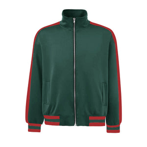Retro Trackjacket - Green / Red - Insurgence Wear - Affordable Streetwear Essentials