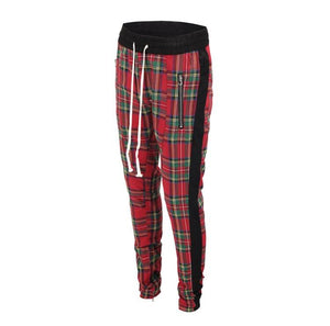 Plaid Trackpants - Red - Insurgence Wear - Affordable Streetwear Essentials