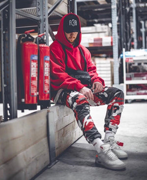 Camo Cargo Pants - Red - Insurgence Wear - Affordable Streetwear Essentials