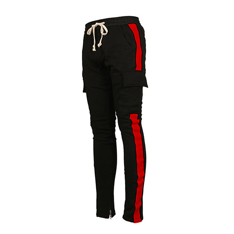 Retro Cargo Trackpants - Red