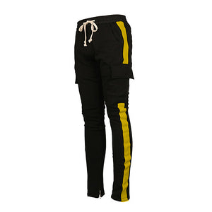 Retro Cargo Trackpants - Yellow