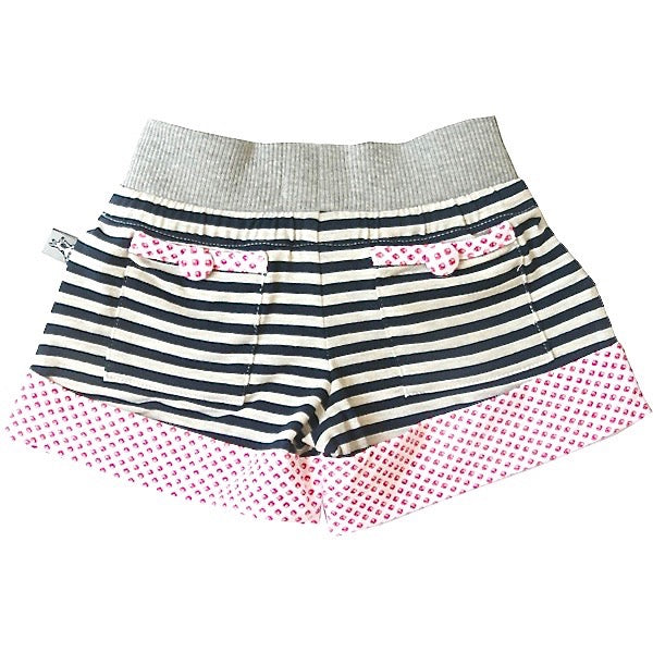 And The Little Dog Laughed Navy Striped Shorts