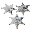 Silver Sheriff Badges (One Dozen) - Novelties