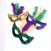Mardi Gras Mask With Feathers (One Dozen) - Holidays