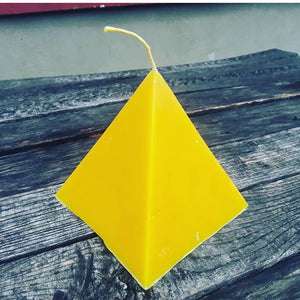 Pyramid  Beeswax Display Candle