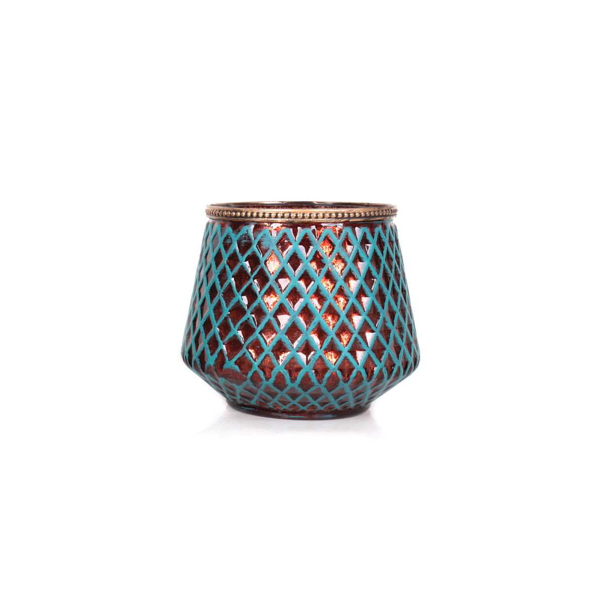 Agra Vase Candle Holder Short - Tosca