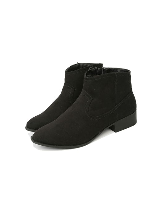 Retro Round Toe Ankle Boots