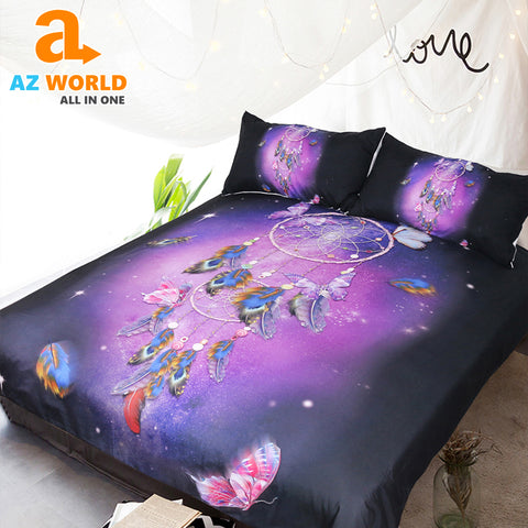 Dreamcatcher Queen Romantic Purple Bedding Set