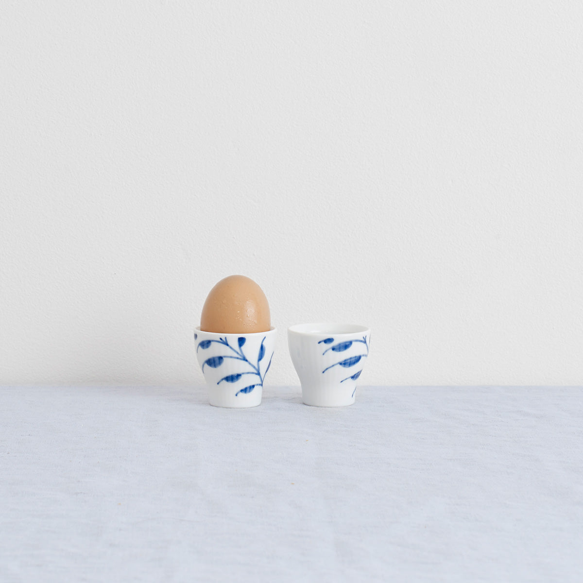 Royal Copenhagen Bluted Mega Egg Cups - Danish Design - Royal Copenhagen - Porcelain - Butter Dish - Blue Fluted Mega Egg Cups