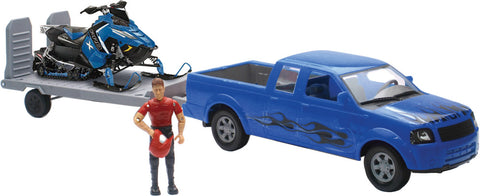 REPLICA 1:18 TRK/TRAILER/SLED TRUCK BLUE/POLARIS BLUE New-Ray Toys SS-37406