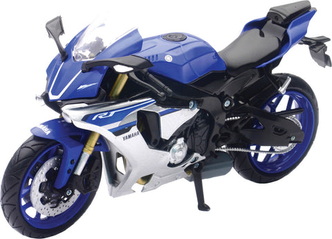 REPLICA 1:12 SUPER SPORT BIKE 16 YAMAHA YXF-R1 BLUE New-Ray Toys 57803A
