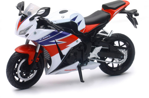 REPLICA 1:12 SUPER SPORT BIKE 16 HONDA CBR1000RR WHITE New-Ray Toys 57793