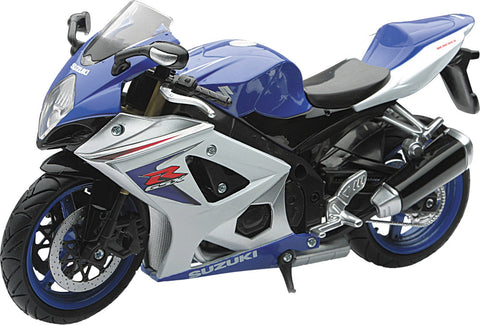 REPLICA 1:12 SUPER SPORT BIKE 08 SUZUKI GSX-R1000 BLUE New-Ray Toys 57003A