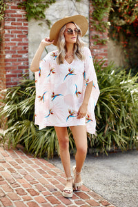 Turner Coverup - White/Pink