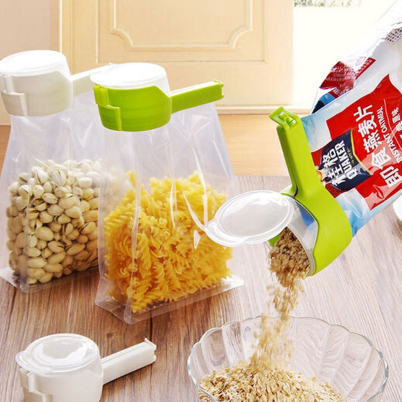 Snap and Seal Pourable Bag Clips. GREAT for Cereal, Nuts, Trail Mix or Just About Anything You Can Think Of..GREAT Stocking Stuffer