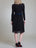 Womens Black Parasol Flower Netting Dress   2 Alternate View
