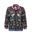 Womens Black Bird Tree Lace Bomber Jacket