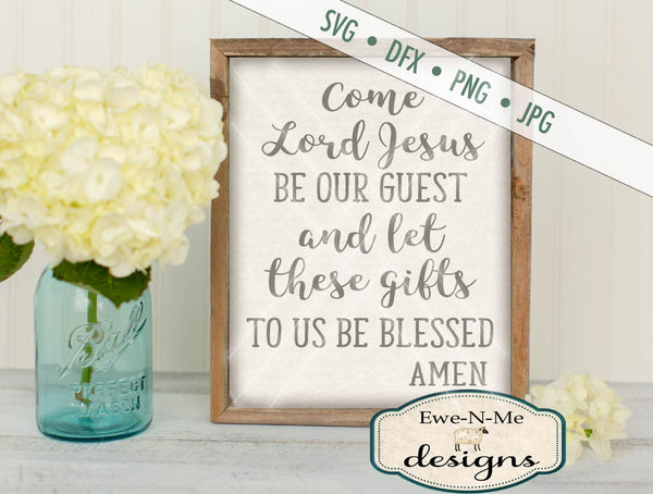 Table Prayer - SVG