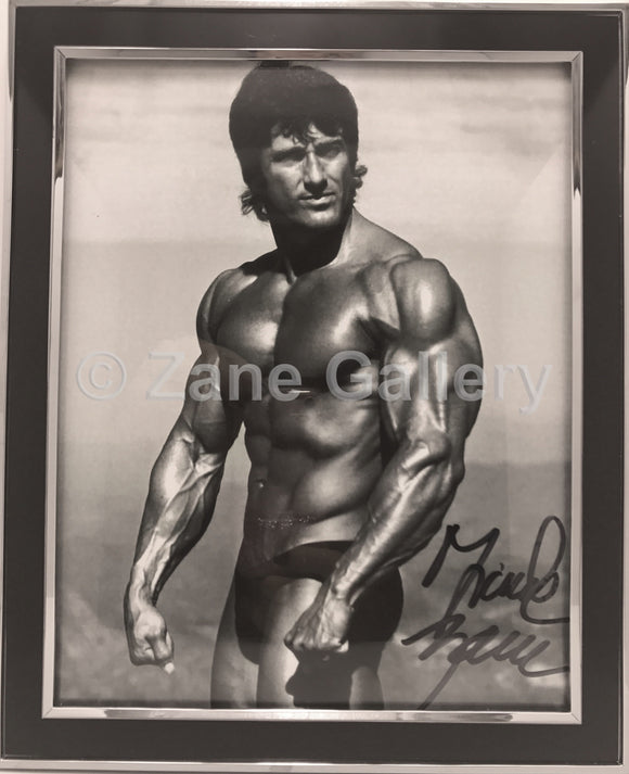 Autographed Zane Framed Black & White Muscular Print - 9