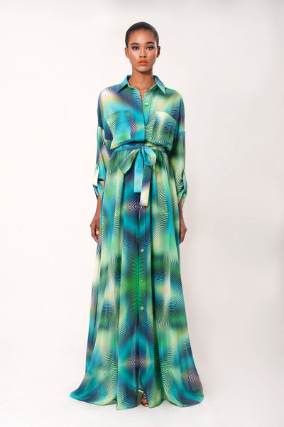 REINA PRINTED SHIRT DRESS - LèMert