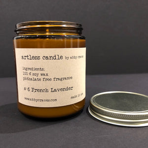 #6 french lavender- artless candle
